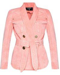 Balmain Denim Jacket - Roze