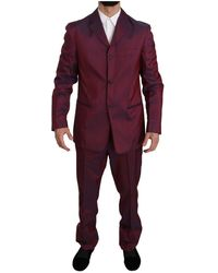Romeo Gigli Patterned suit - Rouge