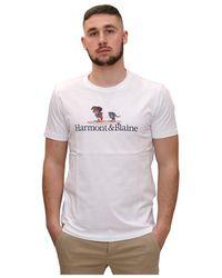 Harmont & Blaine T-shirt Con Bassotto - Wit