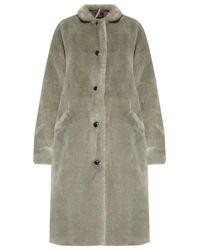 PS by Paul Smith Faux Fur Coat - Groen