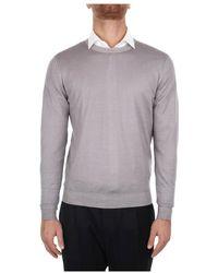 Fedeli 4uif7023 Choker Sweater - Grijs