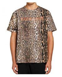 Roberto Cavalli Sport Tshirt Estampado Ocelot Marrón