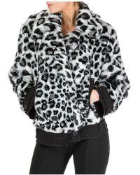 Alberta Ferretti Faux Fur Jacket Women Love Me Wild - Zwart