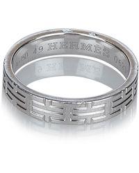 Hermès Kilim dell'anello del metallo oro bianco 18K - Grigio