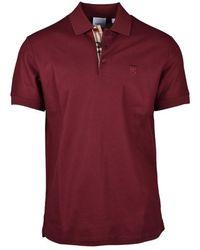 Burberry Poloshirt Van Eddie - Rood