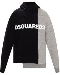 DSquared² Logo-printed Hoodie - Blauw