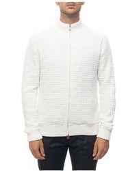 Kiton Cashmere cardigan - Blanc