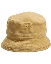Edwin Corduroy Bucket Hat - Gelb