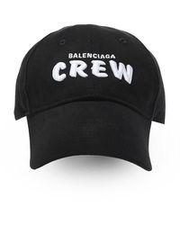 Balenciaga Logo-embroidered Cap - Zwart