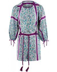 Antik Batik Marius Mini Dress - Blauw