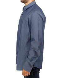 CoSTUME NATIONAL Cotton dress shirt - Bleu