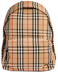 Burberry Men's Rucksack Backpack Travel - Naturel