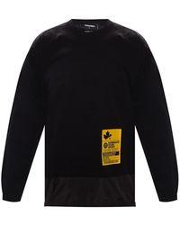 DSquared² Double-layered T-shirt Met Logo - Zwart