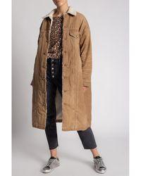 R13 Coat with pockets - Marron