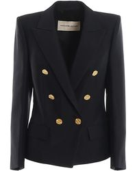 Alexandre Vauthier Gold tone button double-breasted blazer - Nero
