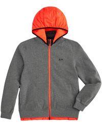 Sun 68 Hooded bomber jacket - Gris