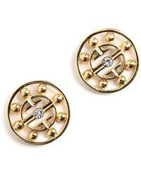 Givenchy Vintage Hoop Logo Earrings - Oranje