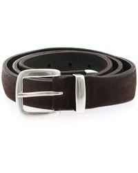 Orciani Hunting Leather Belt - Zwart