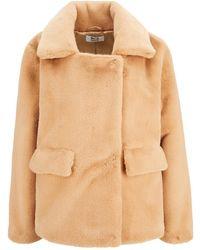 Betta Corradi Fake-fur-jacket - Neutro