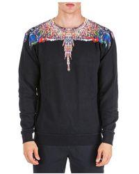 Marcelo Burlon Men's Sweatshirt Sweat Multicolor Wings - Zwart