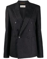 Saint Laurent Stripe Tennis Jacket - Zwart