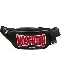 Moschino Heuptas Met Logopatch - Zwart