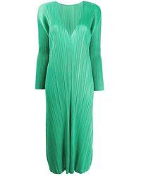 Issey Miyake Pleats Please Dresses - Groen