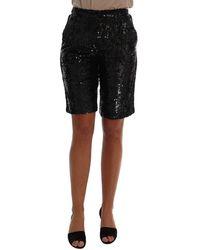 Dolce & Gabbana Sequined Fashion Shorts - Zwart