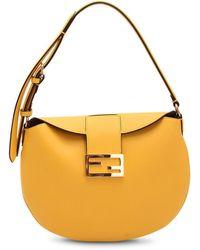 Fendi Leather Shoulder Bag - Geel