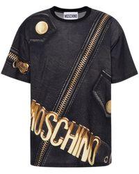 Moschino Marco Biker Jersey T-shirt - Zwart