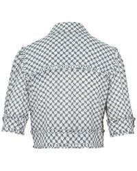 Elisabetta Franchi Short blouse with horse bit print - Gris