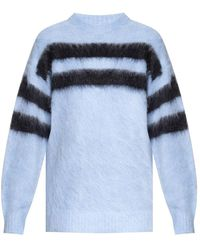 Acne Studios Striped Sweater - Blauw