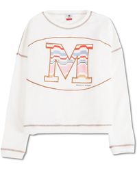 Missoni Sweatshirt Multi Zig Zag Logo - Bianco
