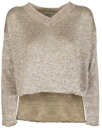 Dondup V-neck Sweater - Geel