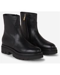 Santoni Leather boots - Noir