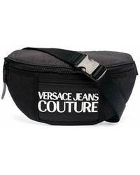 Versace Jeans Couture Riñonera con logo estampa en la parte delantera - Schwarz