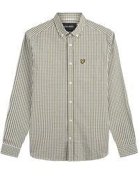 Lyle & Scott Slim Fit Gingham Shirt - Naturel