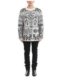 Roberto Cavalli Oversize Sweater - Grijs