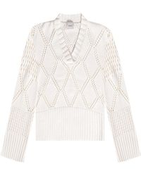 Holzweiler Sweater H Cut-outs - Wit