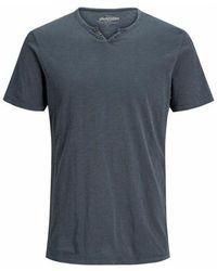 Jack & Jones Jjesplit Neck T-Shirt - Blau