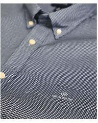 GANT - Chemise à coupe régulière dobby Azul - Lyst