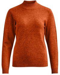 Vila Viril L/s Turtleneck Knit Top-fav - Oranje