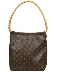 Louis Vuitton Tweedehands Looping Gm-tas - Bruin