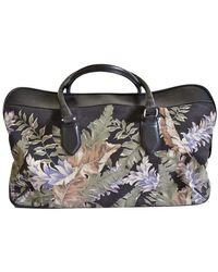Dries Van Noten Large Floral Print Weekend Bag - Zwart