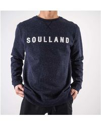 Soulland - Fontane sweatshirt Azul - Lyst