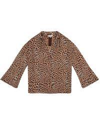 Diega Leopard Printed Blouse - Bruin