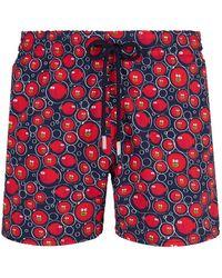Vilebrequin Moorise Swim Short Stretch Crackers - Rood