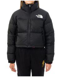 The North Face Nuptse Crop Jacket Nf0a3xe2jk3 - Zwart