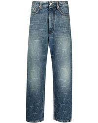 Balenciaga Logo-print Jeans - Blauw