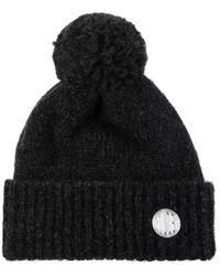 Golden Goose Wool Hat With Logo - Grijs